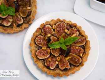 Whole Wheat Pistachio Yogurt Cakes and Pistachio Crust, Pistachio-Orange, Balsamic Vinegar Tarts with California Figs