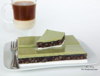 Coconut, Adzuki Red Bean, Matcha Green Tea Layered Jelly