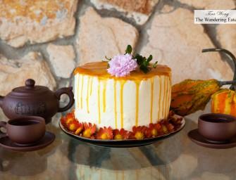 Valrhona Chocolate Cake, Mango Ginger Lime Jam, White Chocolate Lemongrass Frosting