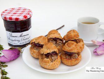 Savory Choux Pastry, Pâté with Bonne Maman Raspberry Preserves